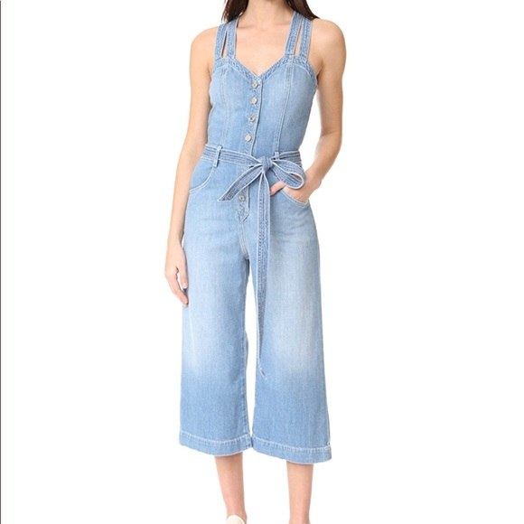 48df0142a0bc NWT 7 for all Mankind Culottes Jumpsuit